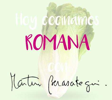 LECHUGA ROMANA CON NARANJA, QUESO Y ALMENDRAS